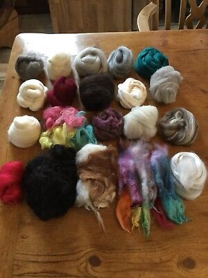 20 Fibre Sampler Pack, Spinning / Needle Felting