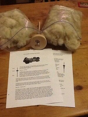 Alpaca Fleece/fibre  drop spindle kit