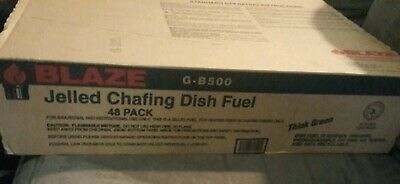 Blaze jelled chafing dish fuel 2+ Hours Rating - Pack of 48