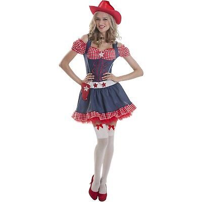 COWGIRL COUNTRY GIRL Fancy Dress Costume Womens Ladies Oufit ...