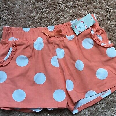 Girls Peach poka dot shorts Size 12-13 from Matalan Brand New with Tags