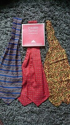2 Vintage Tootal Cravats And 1 unknown also a Boxed set of 3 XL Handkerchiefs