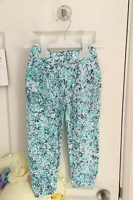 BNWT NEW Girls GAP Trousers Loose Harem Green Blue Pockets 3 Years