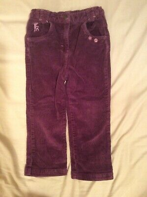 Girls Bum Kids Purple Cords Trousers Size Aged 3 Years