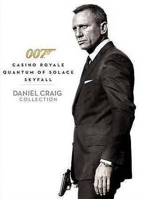 James Bond - Casino Royale/Quantum of Solace/Skyfall Dvd - New And Sealed.