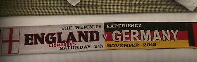 England Lionesses V Germany Ladies .match Scarf . Wembley 2019