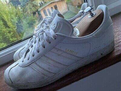 MENS ADIDAS ORIGINALS GAZELLE TRAINERS SIZE 13 White