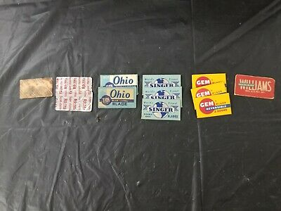 Vintage Safety Shaving Razor Blade Lot of 12