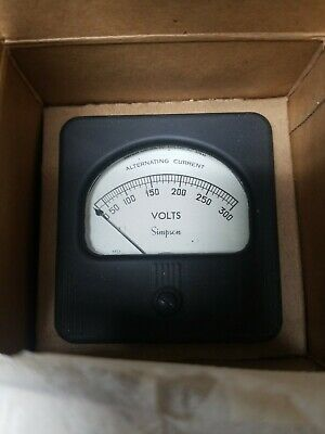 Simpson Electric Panel Meter Gauge 0-300 Volts