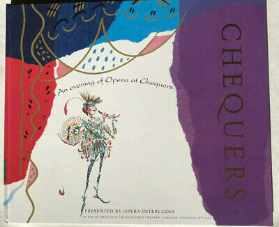 Evening of opera, Chequers, programme 1994, excellent condition