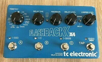 TC Electronic Flashback X4 Delay and Looper Guitar Effect Pedal