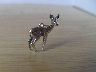 Solid Sterling Silver Pendant  Deer, Hand Made By Me.