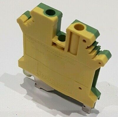 4mm Earth Terminal Block Connector DIN Rail 28-10AWG