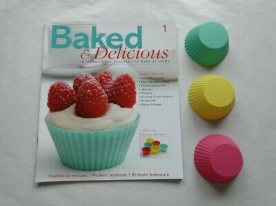 Baked & Delicious Magazine Issue 1 with Cupcake Cases Eaglemoss