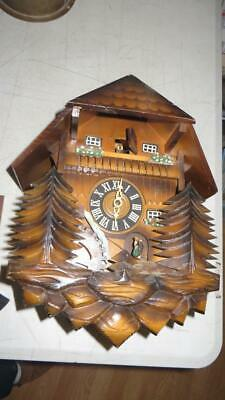 Vintage Rare cuckoo clock Made in West Germany  Walde sold for restoration