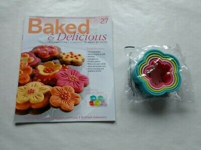 Baked & Delicious Magazine issue 27 with Flower Cookie Cutters Eaglemoss
