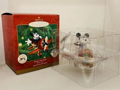 "Hallmark Keepsake Ornament ""Mickey's Sky Rider"" 2000, NIB. Disney, Mickey Mouse"