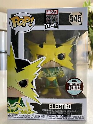 Funko POP! Marvel 80th Anniversary ELECTRO Specialty Series #545 IN HAND