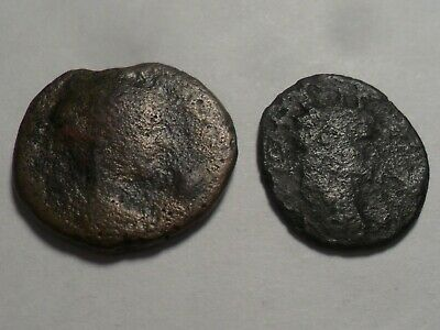 Ancient Two Nice Different Types Of Very Old Bronze Coins!