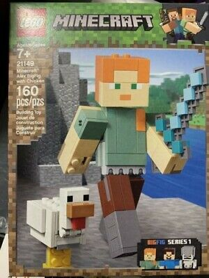 LEGO Minecraft Alex BigFig with Chicken 21149 Building Kit New 160 pcs NEW
