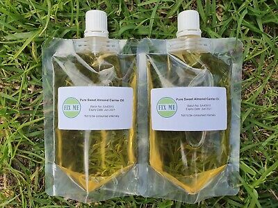 Sweet Almond Oil 100% Pure-Cold Pressed Organic (FREE Tea Tree Oil for 1L)