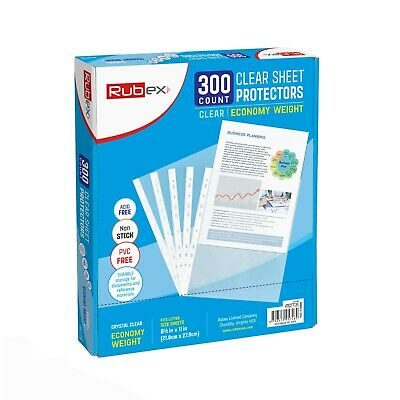 300 Sheet Protectors, Holds 8.5 x 11 inch Sheets