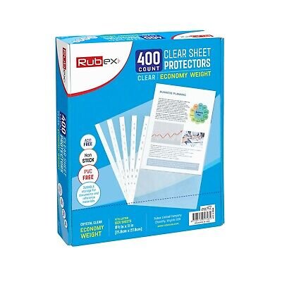 400 Sheet Protectors, Holds 8.5 x 11 inch Sheets