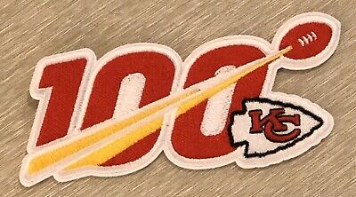 """🏈NEW 2019 KANSAS CITY CHIEFS 100th Anniversary NFL 100 Years Jersey PATCH 5"""""""