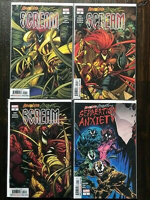 Absolute Carnage: Scream #1 to 3 w/AC Separation Anxiety #1 NM All 1st Prints