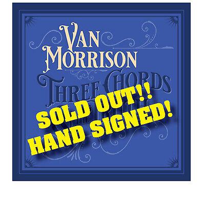 Van Morrison Signed Three Chords And The Truth Lithograph Lp Art Print W/ Cd