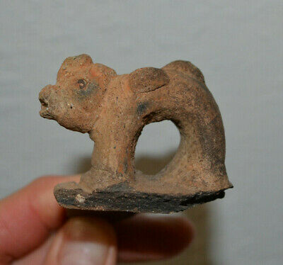 Ancient Pre Columbian Taino Art Authentic Artifact Pottery Face Shard