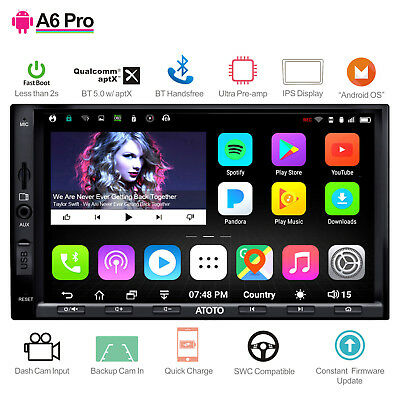 ATOTO A6 Pro A6Y2721PRB  Android Car Stereo GPS Radio/Dual Bluetooth aptX & more