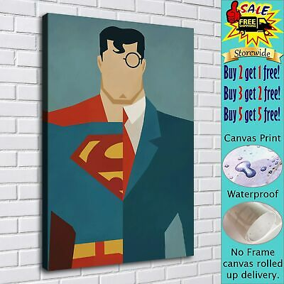 """16""""x24""""Superman Poster HD Canvas prints Painting Home Decor Picture Wall art"""