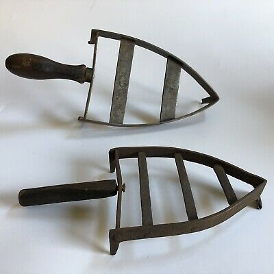 Two Early Antique Hand-Forged Wrought Iron Trivets