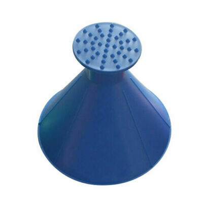 1BLUE Car Windshield Ice Snow Remover Scraper Tool Cone Shaped Round Funnel IR5