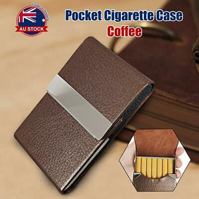 Pocket Cigarette Case Tobacco Cigar Storage Box Flip Top Holder Container O