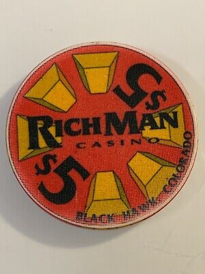 RICHMAN CASINO $5 Casino Chip Black Hawk Colorado 3.99 Shipping
