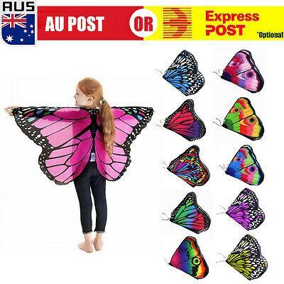 Baby Kid Girl Fairy Butterfly Wing Costume Princess Shawl Cape Halloween Cloak O