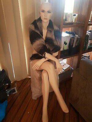 Full Body Female Mannequin Cloth Display Tailor Dressmaker Skin Tone
