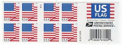 5263a (CF1) Booklet Pane of 20  Counterfeit US Forever Flag Design of 2018 MNH