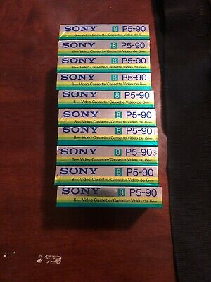 10x SONY Video8  METAL HG90. P5-90 HGB 8mm VIDEO TAPE New,sealed.