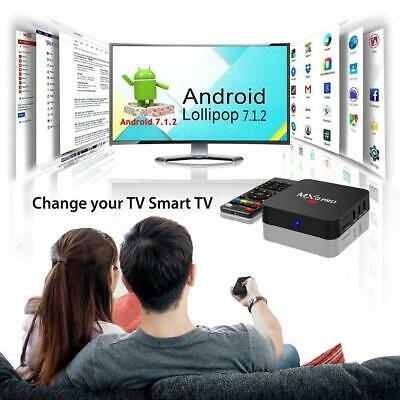 MXQ PRO décodeur TV Box Android 7.1 UHD 4K 18.0 Quad Core 1 + 8G Media Player FR