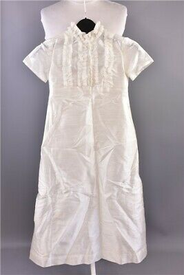 """Vintage Unbranded Off White Short Sleeve &Lace Detail Christening Gown Chest 22"""""""