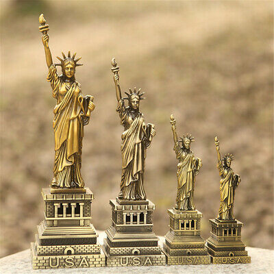 The Statue of Liberty Model Freedom Goddess Figurine Home Decor Metal Craft Gift