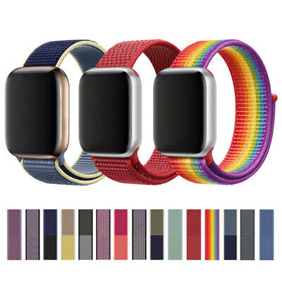 Nylon Woven Sport Loop Wristband Strap For Apple Watch iWatch Series 1/2/3/4/5