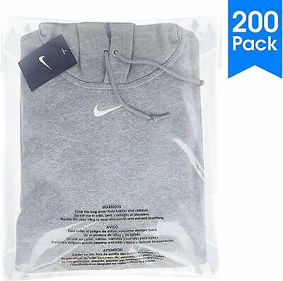 200 Count - 14 X 20 Self Seal 1.5 Mil Clear Plastic Poly Bags with Suffocation