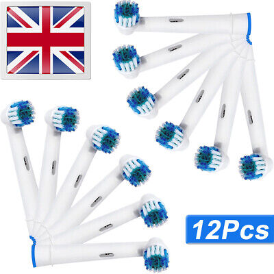 12 Replacement Brush Heads Compatible With Variety Toothbrush Braun Oral B Model