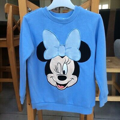 Girls H&M Minnie Mouse Jumper Age 4-6 Years