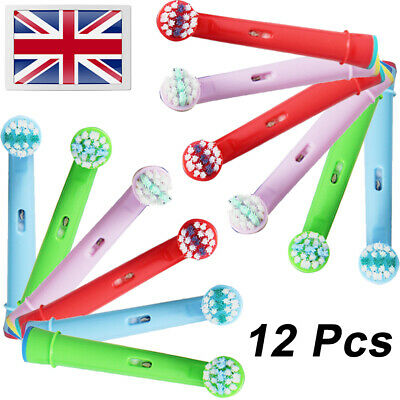 12 Pcs Compatible With Kids Oral B Replacement Toothbrush Heads UK Free Shipping