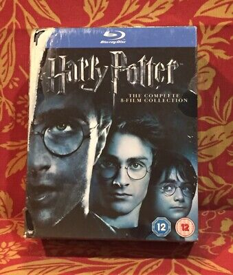 Harry Potter The Complete 8-Film Collection Set (Blu Ray 11-Disc. Damaged Cover.
